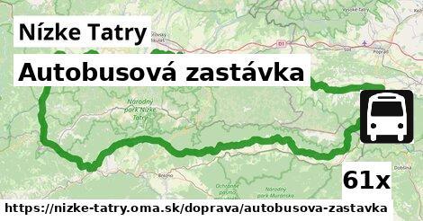autobusová zastávka v Nízke Tatry