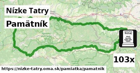 pamätník v Nízke Tatry