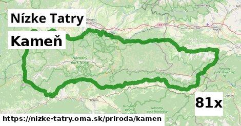 kameň v Nízke Tatry