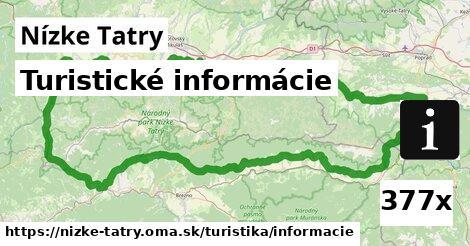 turistické informácie v Nízke Tatry