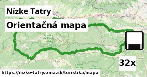 ilustračný obrázok k Orientačná mapa, Nízke Tatry