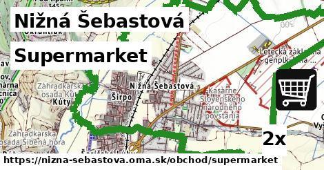 supermarket v Nižná Šebastová