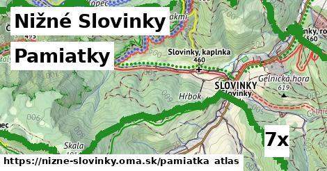 pamiatky v Nižné Slovinky