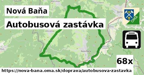 autobusová zastávka v Nová Baňa