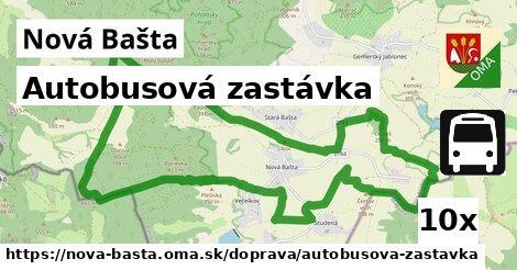 autobusová zastávka v Nová Bašta