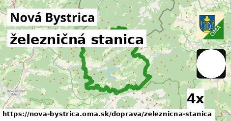 železničná stanica v Nová Bystrica