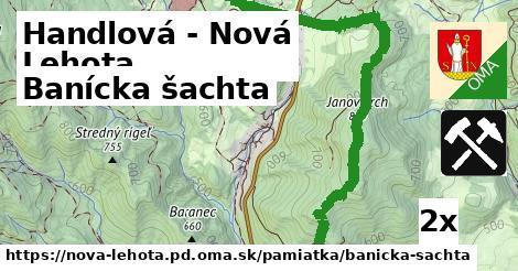 banícka šachta v Handlová - Nová Lehota
