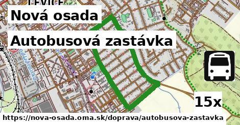 autobusová zastávka v Nová osada