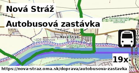 autobusová zastávka v Nová Stráž