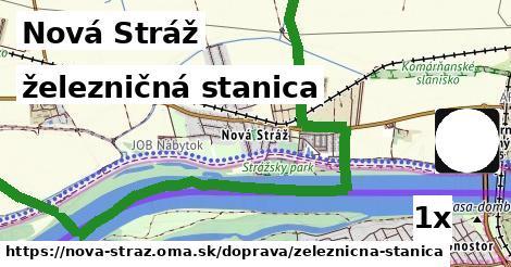 železničná stanica v Nová Stráž