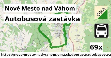 autobusová zastávka v Nové Mesto nad Váhom