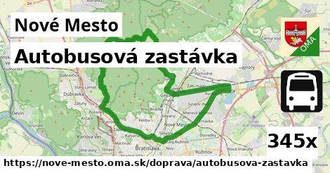 autobusová zastávka v Nové Mesto