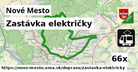 zastávka električky v Nové Mesto