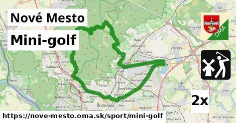 mini-golf v Nové Mesto