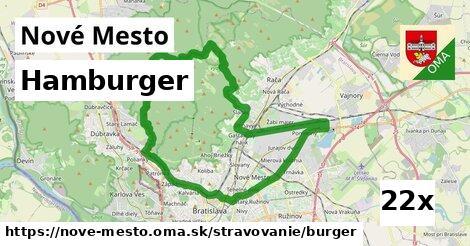 hamburger v Nové Mesto