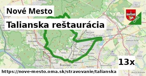 talianska reštaurácia v Nové Mesto