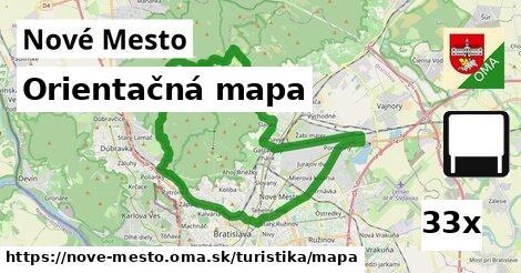 orientačná mapa v Nové Mesto