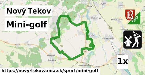 mini-golf v Nový Tekov