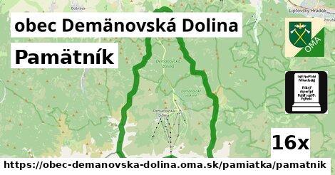pamätník v obec Demänovská Dolina
