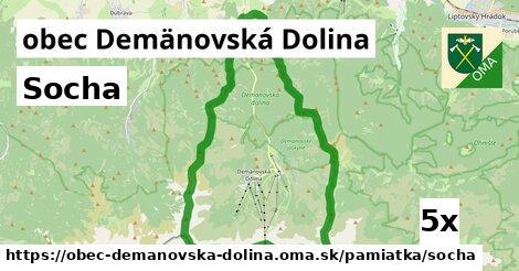 socha v obec Demänovská Dolina