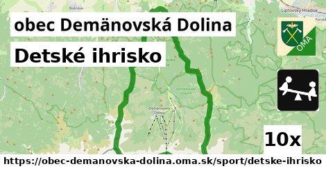 detské ihrisko v obec Demänovská Dolina