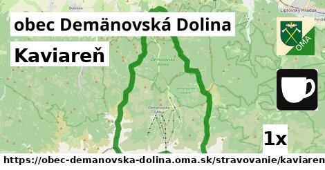kaviareň v obec Demänovská Dolina