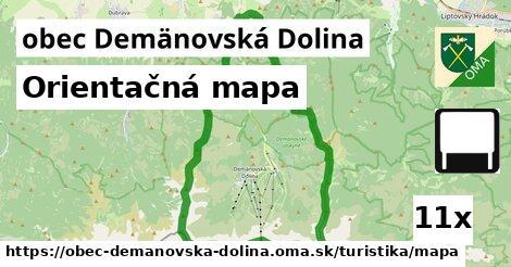 orientačná mapa v obec Demänovská Dolina