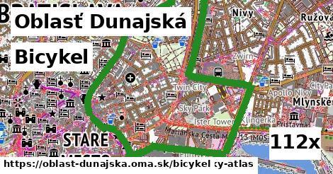 bicykel v Oblasť Dunajská