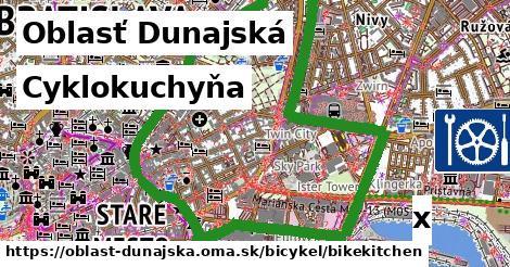 cyklokuchyňa v Oblasť Dunajská