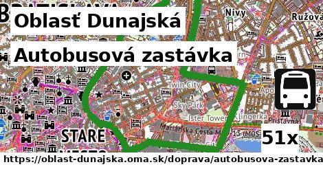 Autobusová zastávka, Oblasť Dunajská