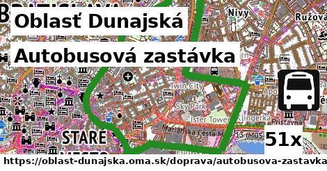 autobusová zastávka v Oblasť Dunajská