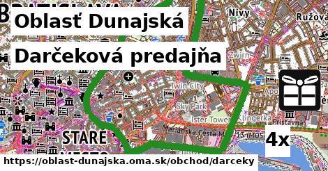Darčeková predajňa, Oblasť Dunajská