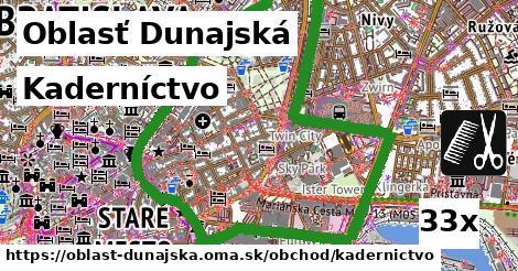 Kaderníctvo, Oblasť Dunajská