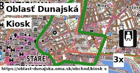 Kiosk, Oblasť Dunajská