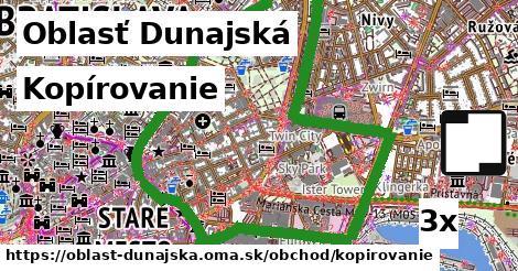 Kopírovanie, Oblasť Dunajská