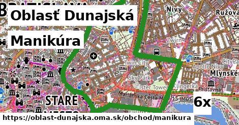 Manikúra, Oblasť Dunajská