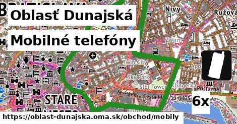Mobilné telefóny, Oblasť Dunajská
