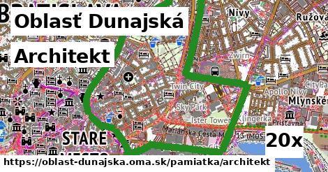 Architekt, Oblasť Dunajská