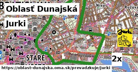 Jurki, Oblasť Dunajská
