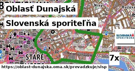 Slovenská sporiteľňa, Oblasť Dunajská
