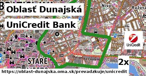 UniCredit Bank, Oblasť Dunajská