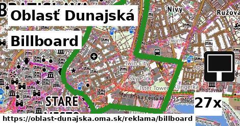 Billboard, Oblasť Dunajská