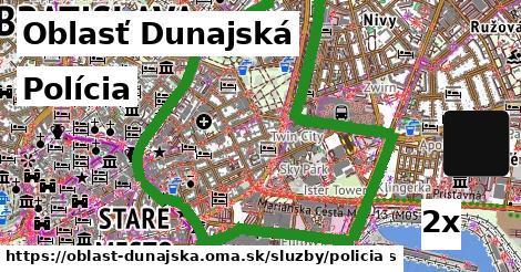 Polícia, Oblasť Dunajská