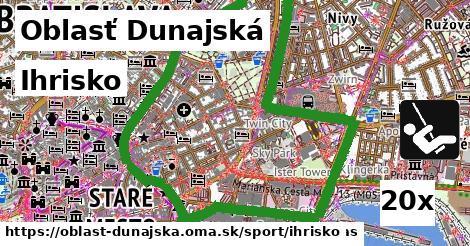 Ihrisko, Oblasť Dunajská