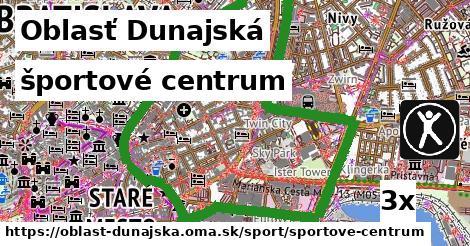 športové centrum, Oblasť Dunajská