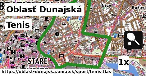 Tenis, Oblasť Dunajská
