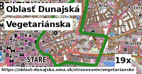 Vegetariánska, Oblasť Dunajská