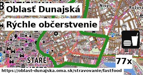 rýchle občerstvenie v Oblasť Dunajská