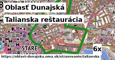 talianska reštaurácia v Oblasť Dunajská