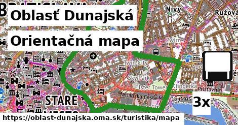Orientačná mapa, Oblasť Dunajská